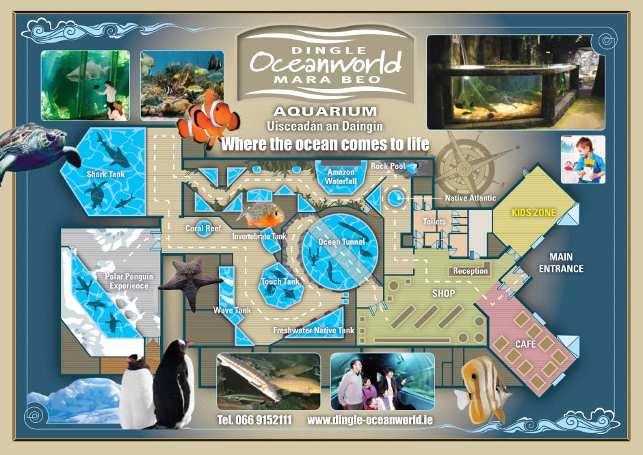 Dingle Oceanworld Aquarium Map