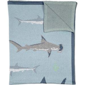 100% Organic Cotton Baby Blanket – Shark