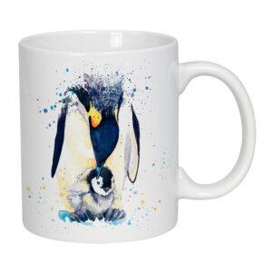 Ceramic Penguin and Chick Mug