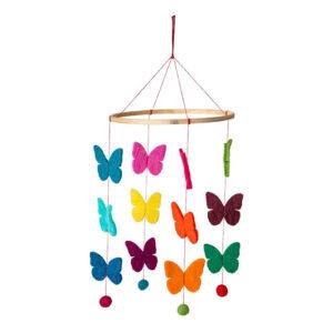 Fairtrade Felt Mobile – Butterfly