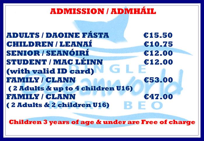 Dingle Oceanworld Admission Prices 2020