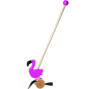 Wooden Push Stick – Flamingo