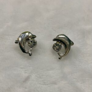 Dolphin Crystal Stud Earrings